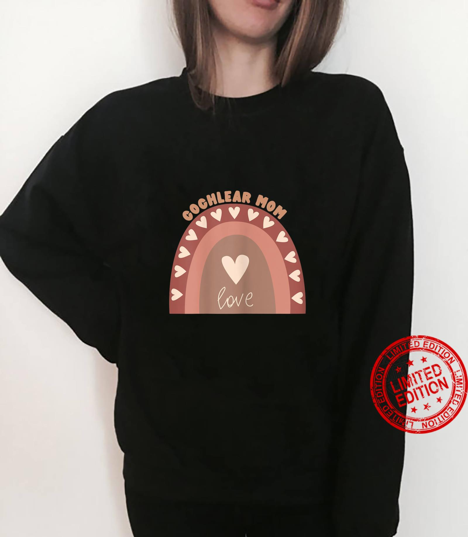 "Womens Boho ""Cochlear Mom Cute deaf pride Shirt sweater"
