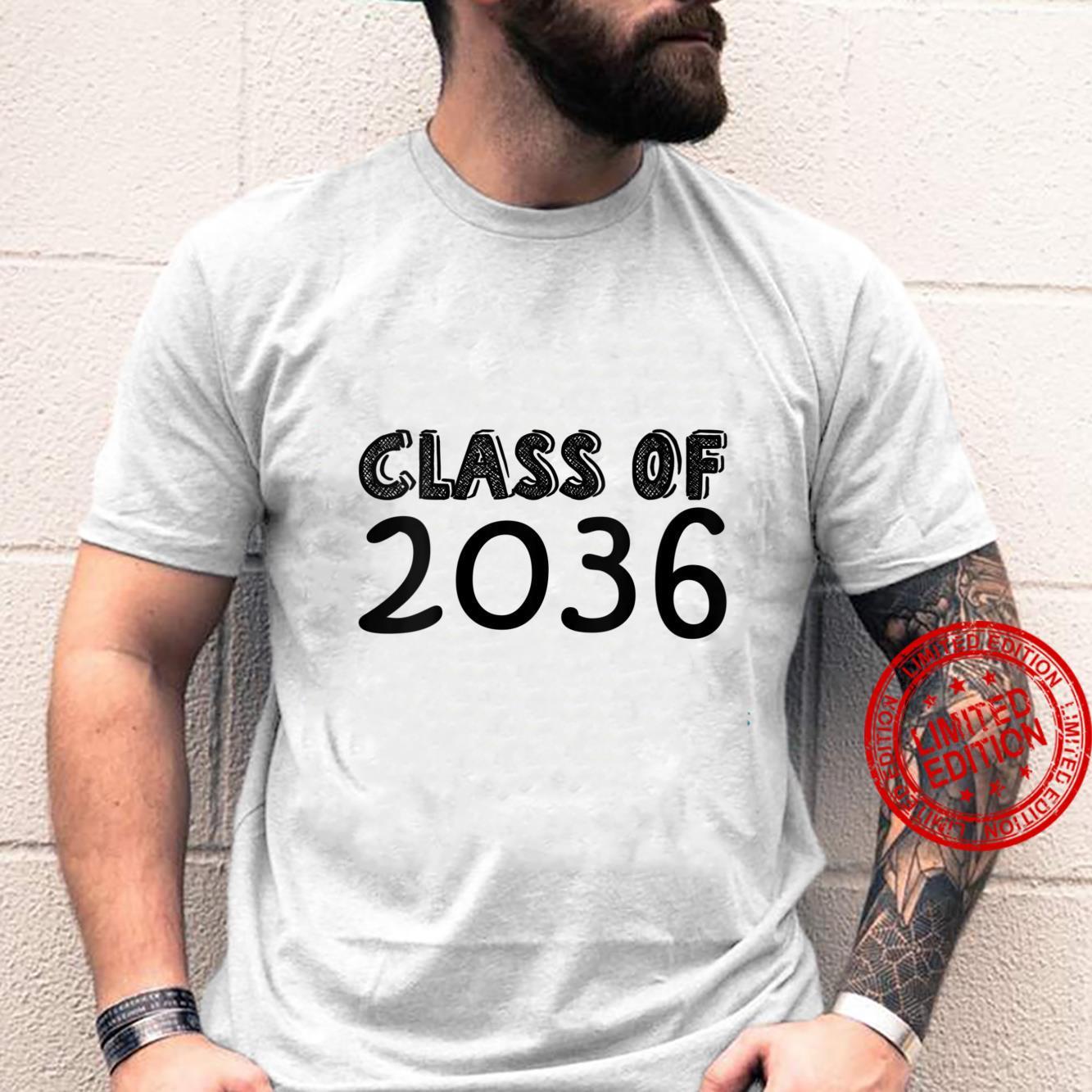 Womens Class of 2036 kindergarten to graduation Senior 2036 Shirt