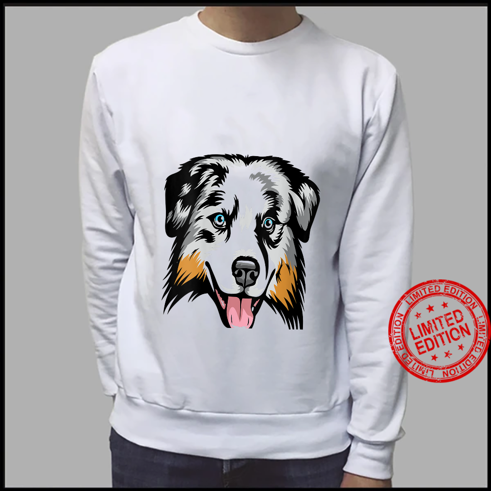 Womens Cool Australian Shepherd Face Shirt sweater