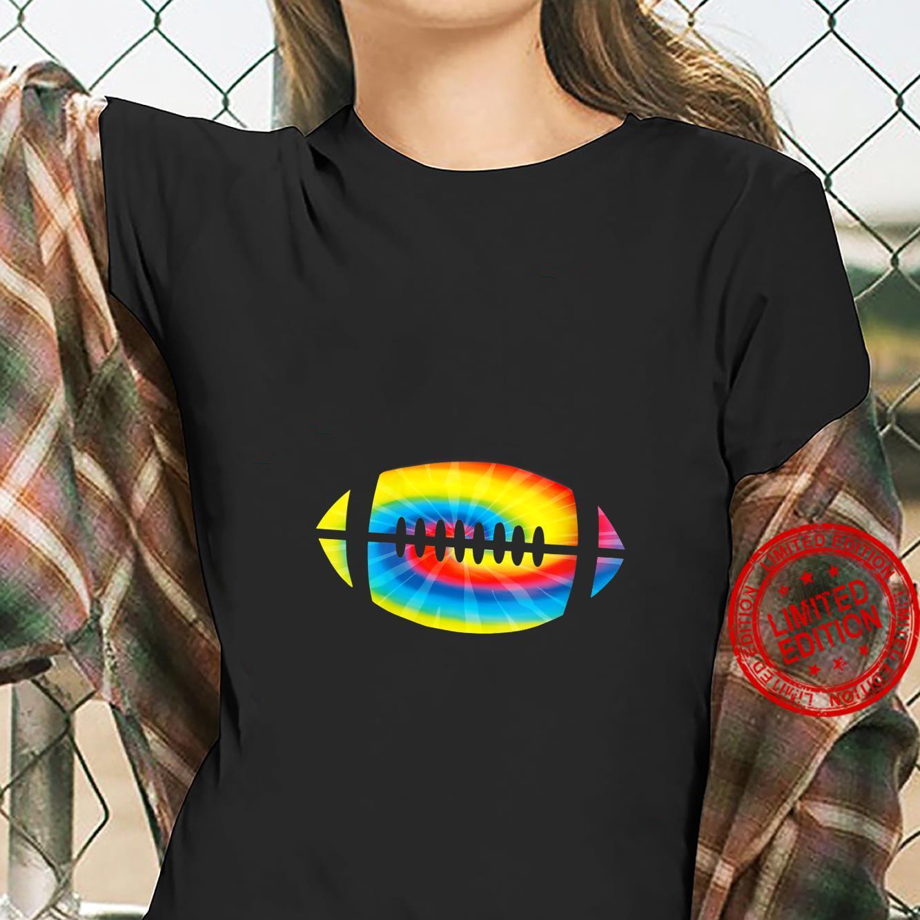 Womens Cool Tie Dye Football Cute Sports Player Shirt ladies tee