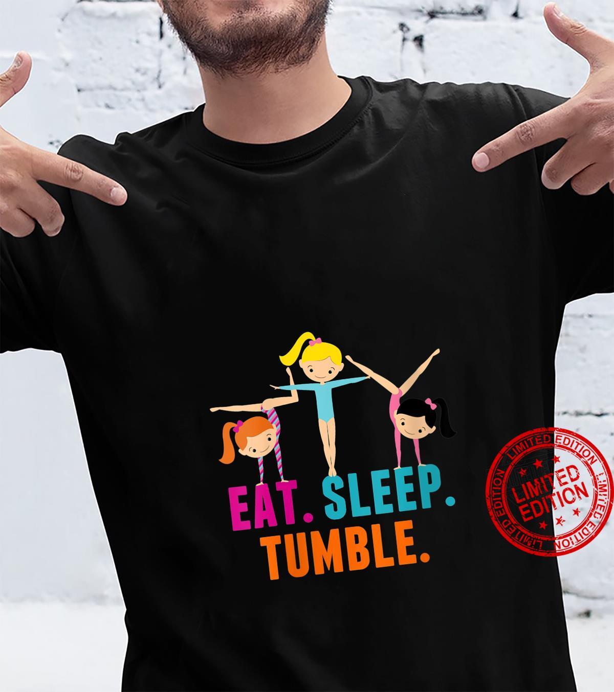 Womens Eat Sleep Tumble Cute Gymnastics Girls Humor Shirt