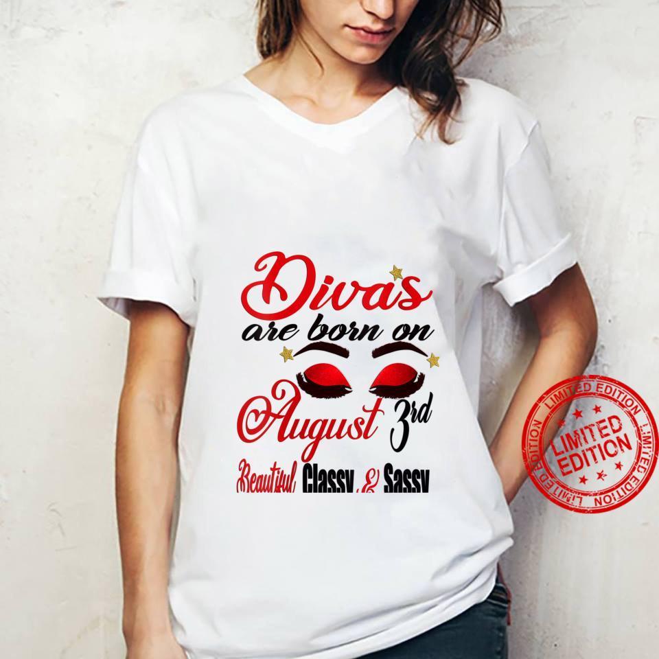 Womens Leo Divas are Born on August 3rd Birthday Girl Horoscope Shirt ladies tee
