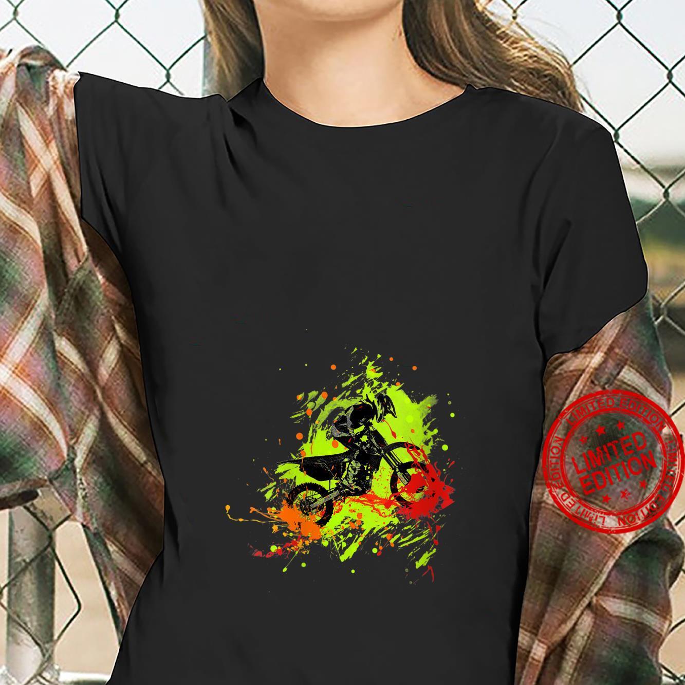 Womens Motocross Dirt Bike racing Shirt ladies tee