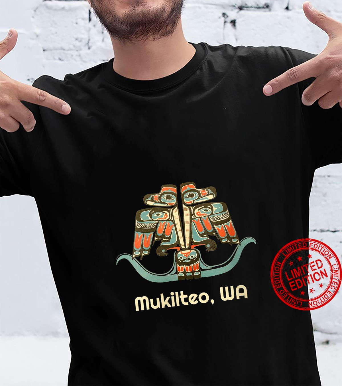 Womens Mukilteo Washington Thunderbird NW Native American Shirt