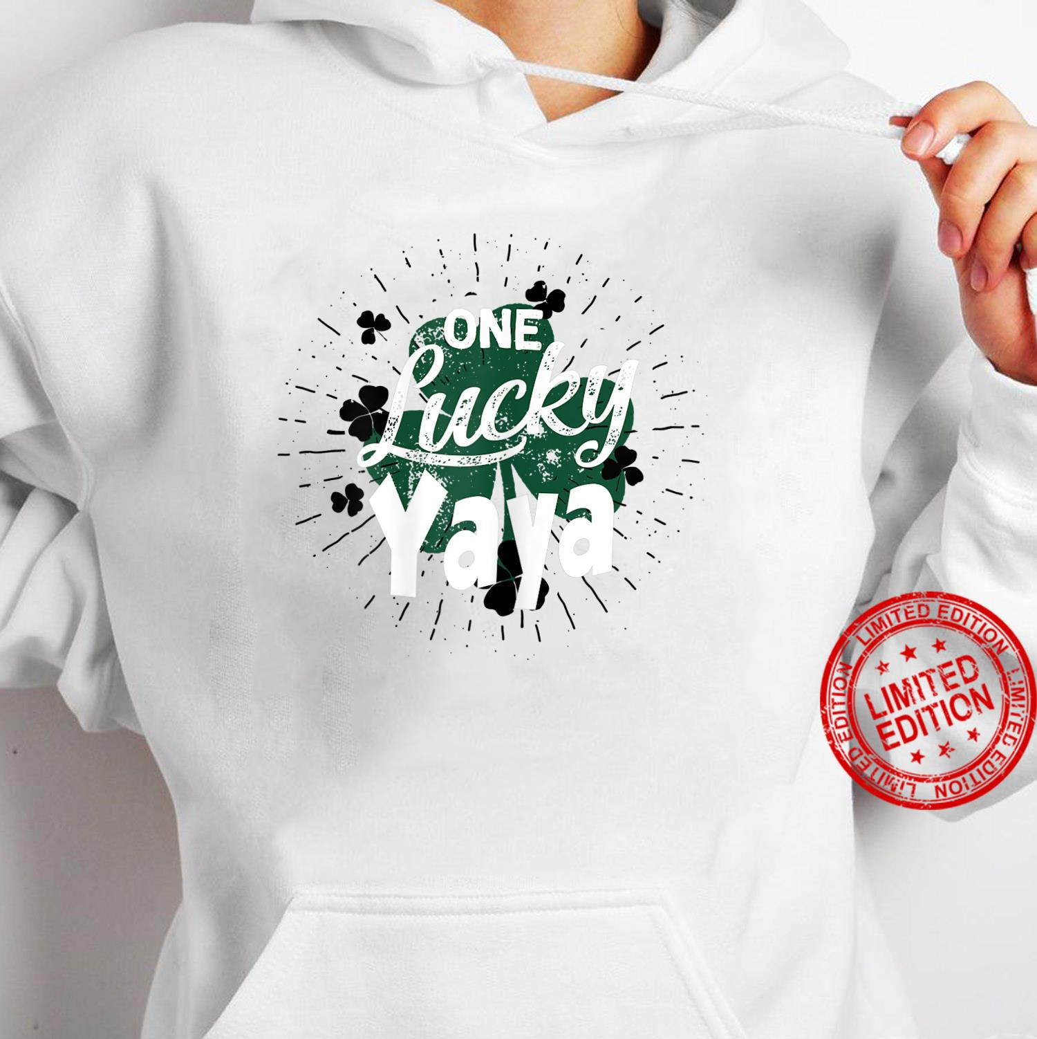 Womens One Lucky Yaya Greek Grandma St Patricks Day Shamrock Shirt hoodie