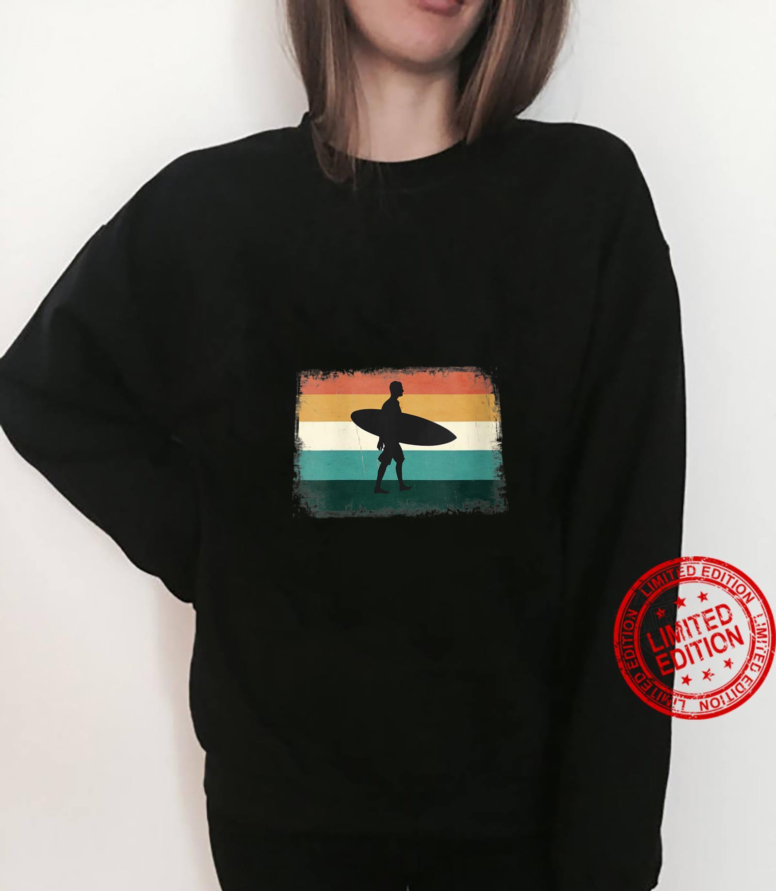 Womens Retro Sunset Surfer Vintage Surfing Beach Sun & Surf Shirt sweater