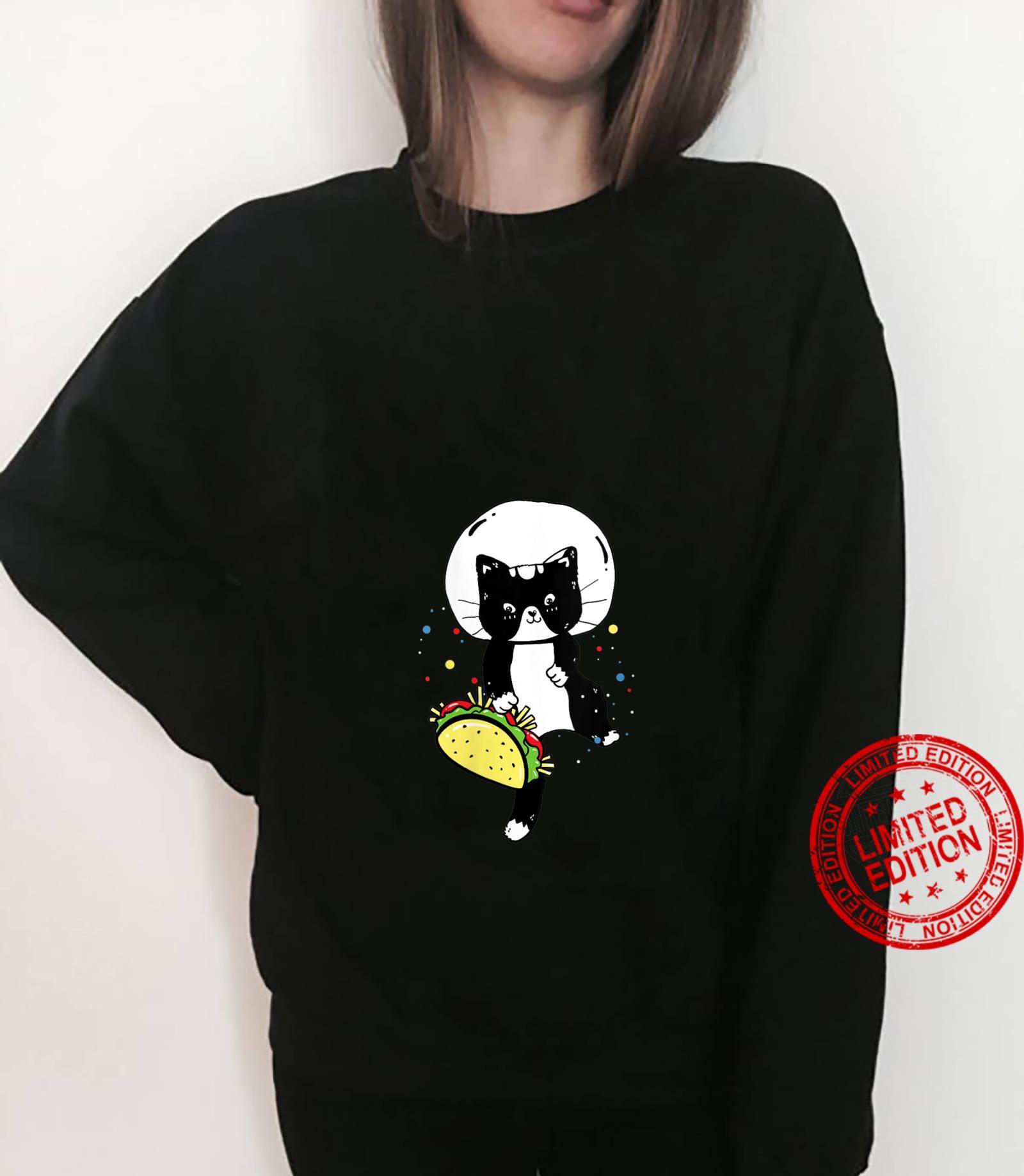 Womens Space Cat Taco Cute Universe Galaxy Kitten Outerspace Shirt sweater