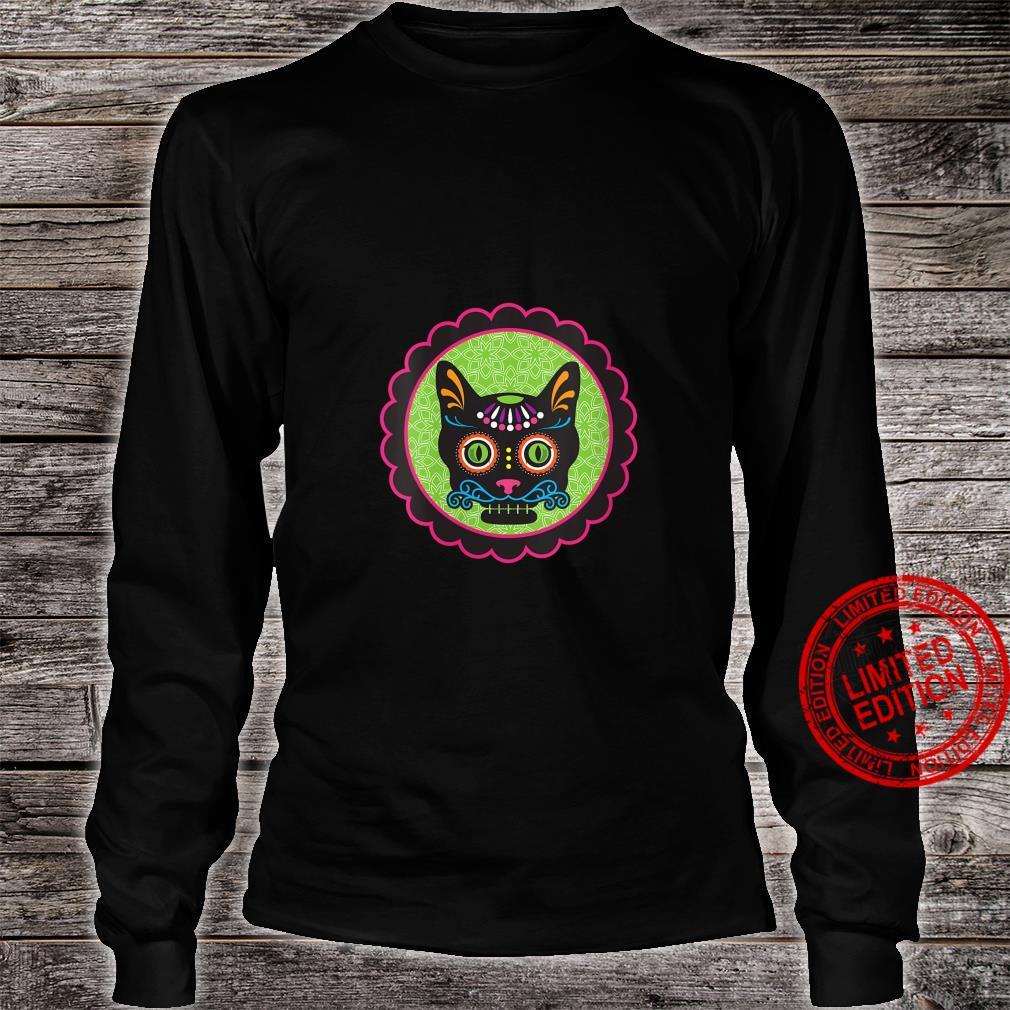 Womens Sugar Skull Kitty Shirt long sleeved