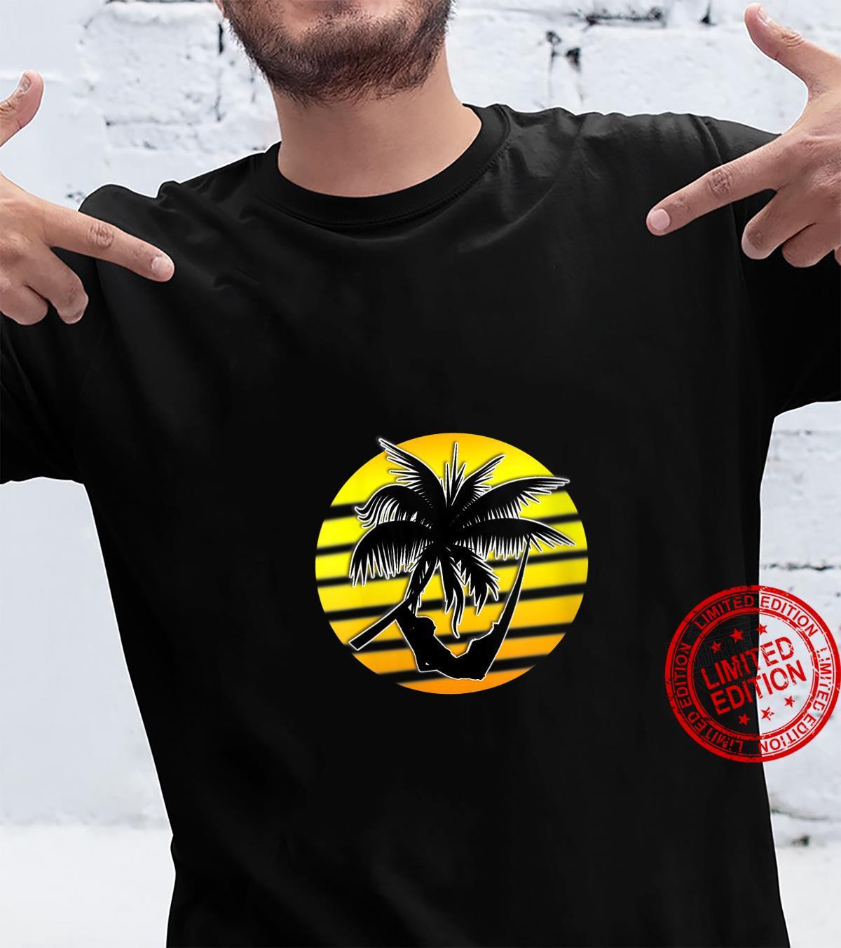 Womens Sunset Tropical Sunrise Cool Vacation USA Hawaiin Palms Shirt
