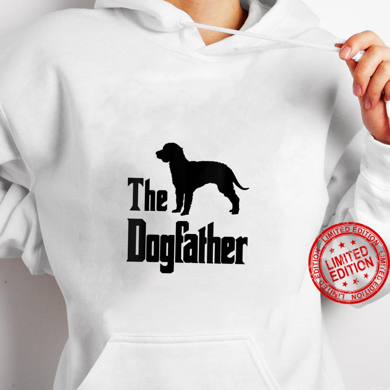 Womens The Dogfather funny dog, American Water Spaniel Shirt hoodie