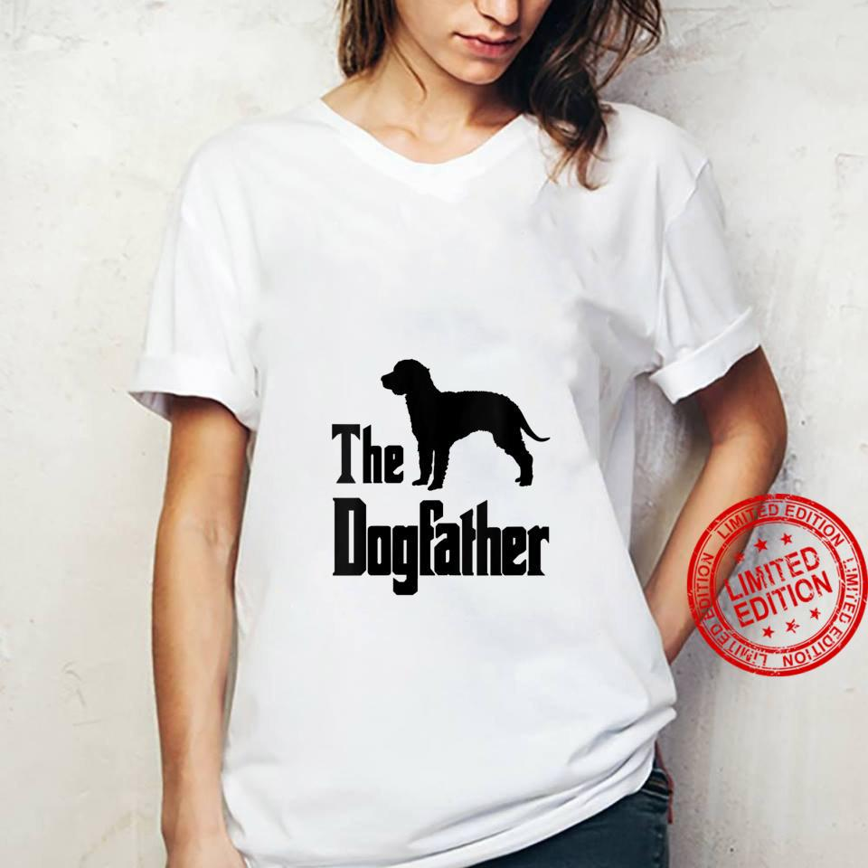 Womens The Dogfather funny dog, American Water Spaniel Shirt ladies tee
