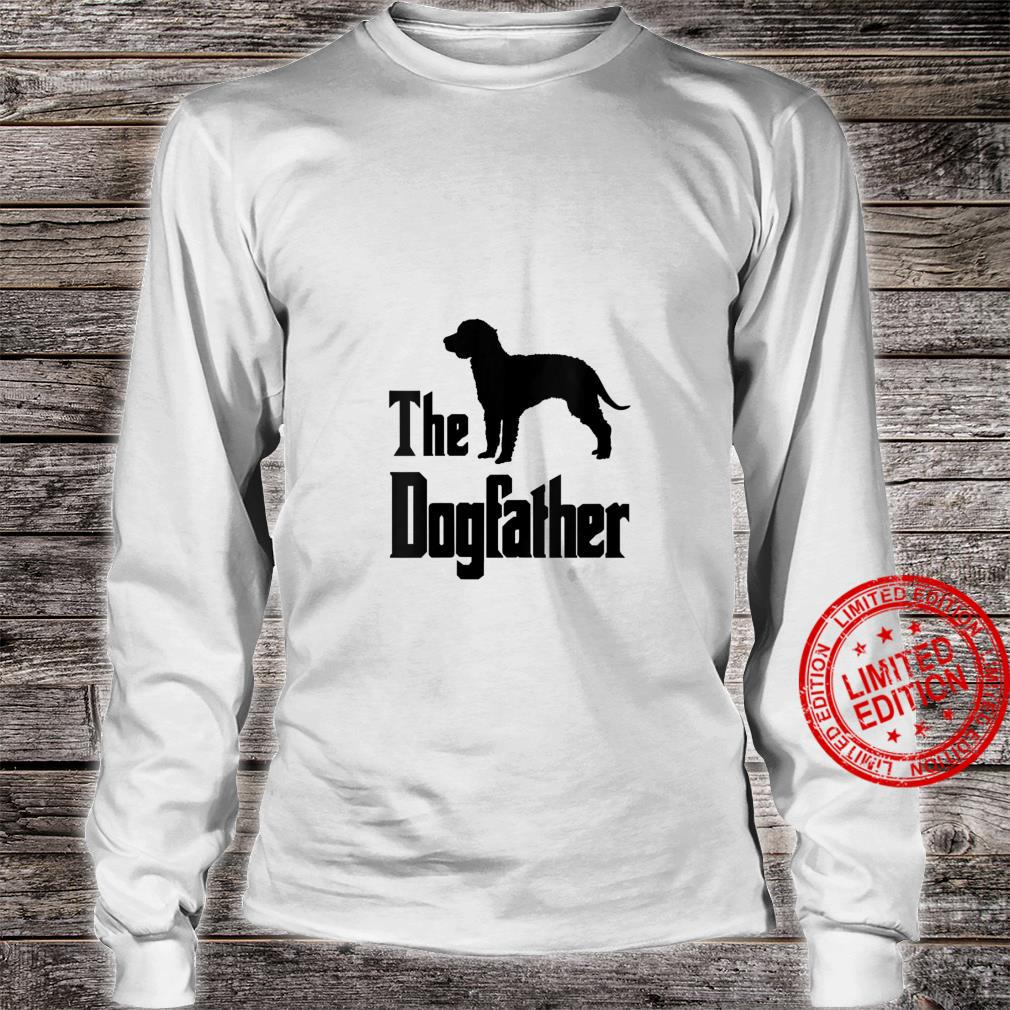 Womens The Dogfather funny dog, American Water Spaniel Shirt long sleeved