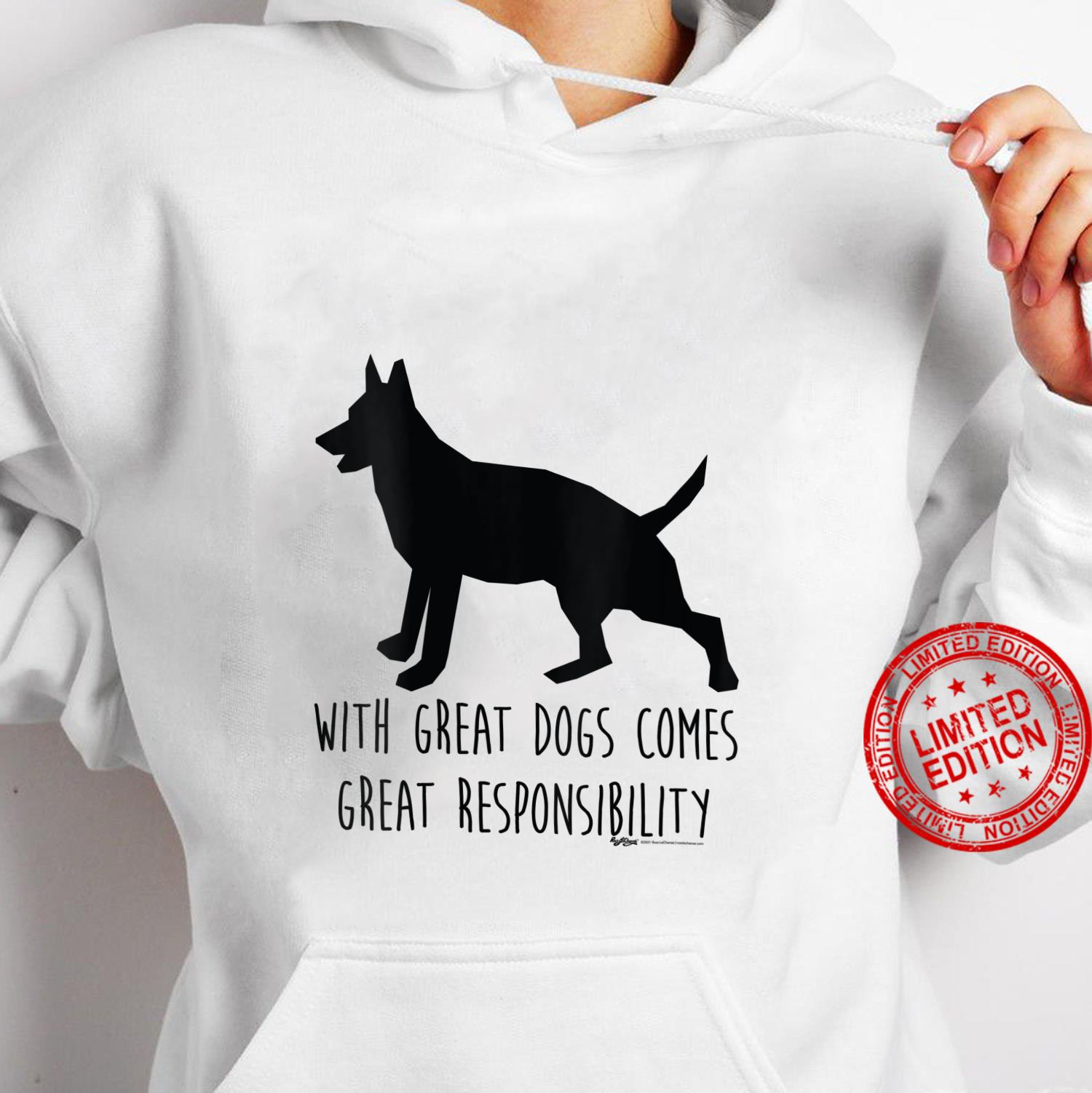 Womens With Great Dogs Comes Great Rescue Dog Word Design Shirt hoodie