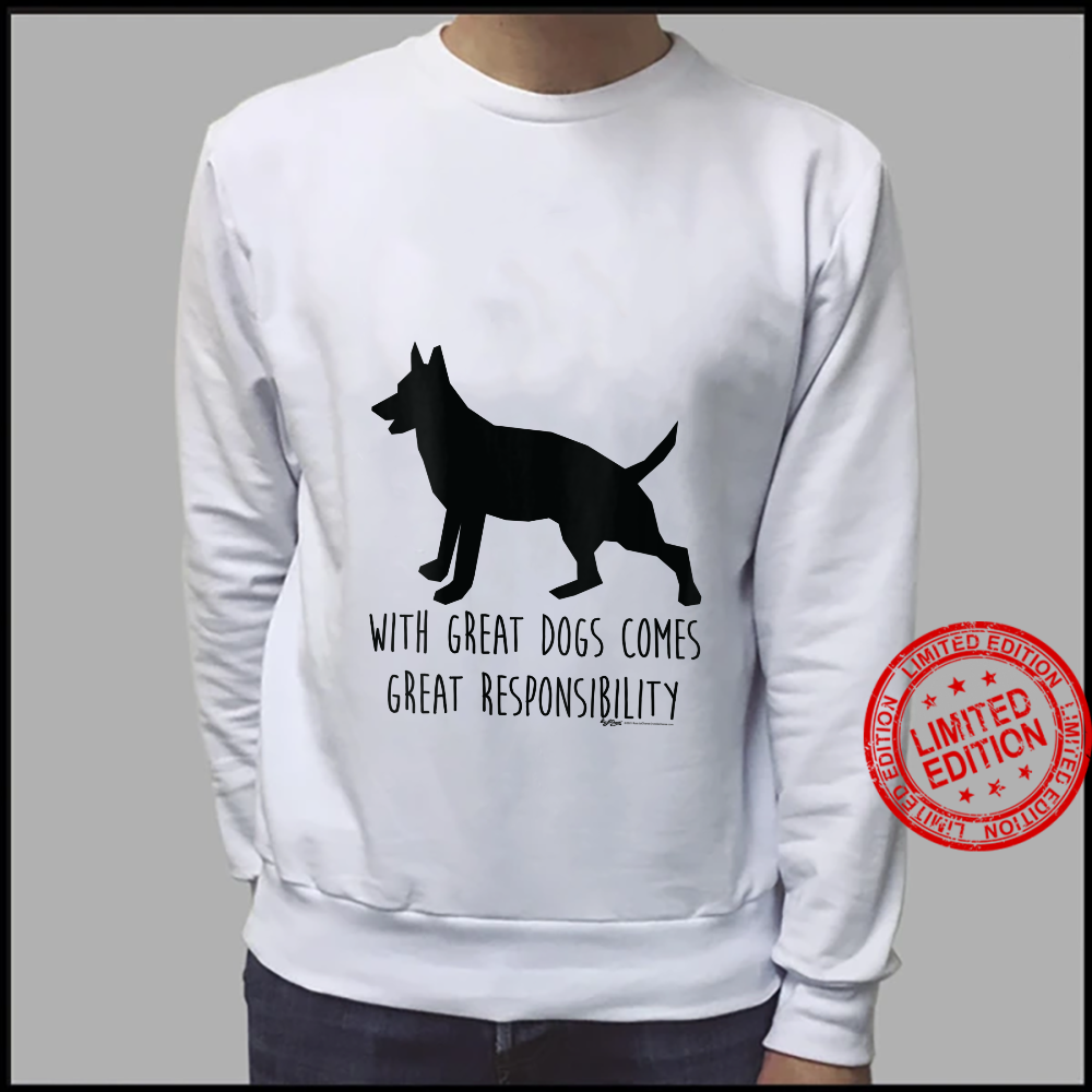 Womens With Great Dogs Comes Great Rescue Dog Word Design Shirt sweater