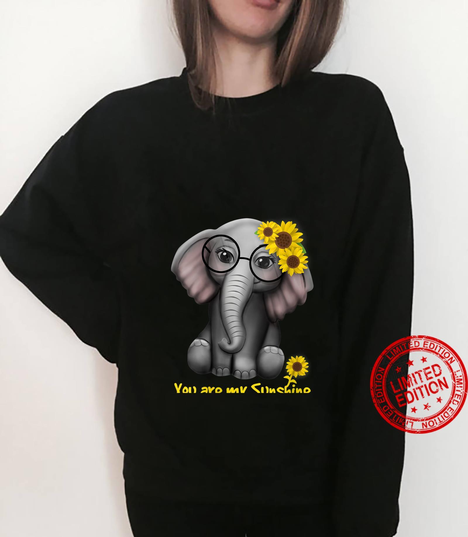 Womens You Are My Sunshine Elephants Sunflowers Clothes Elephant Shirt sweater