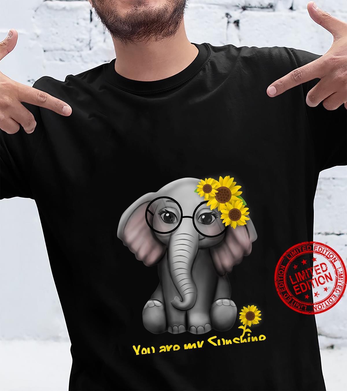 Womens You Are My Sunshine Elephants Sunflowers Clothes Elephant Shirt