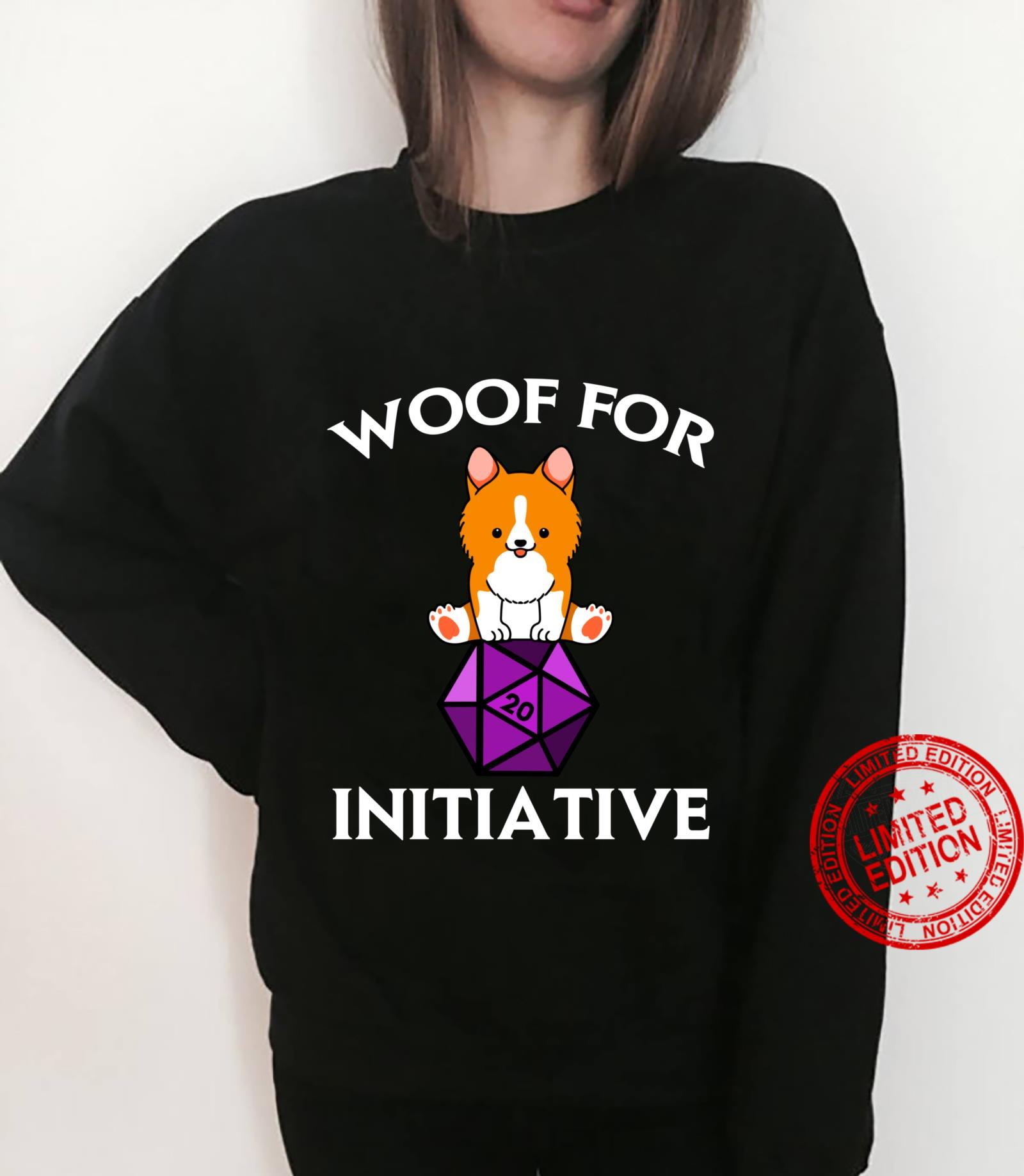 Woof For Initiative Corgi Dungeons and Dogs D20 RPG Shirt sweater