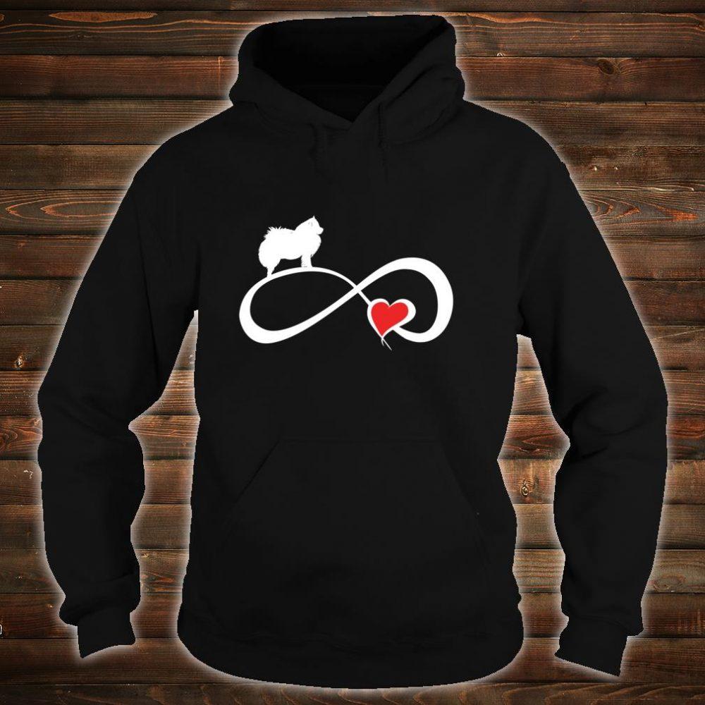 American Eskimo Dog Mom Eternity Heart Valentines Shirt hoodie