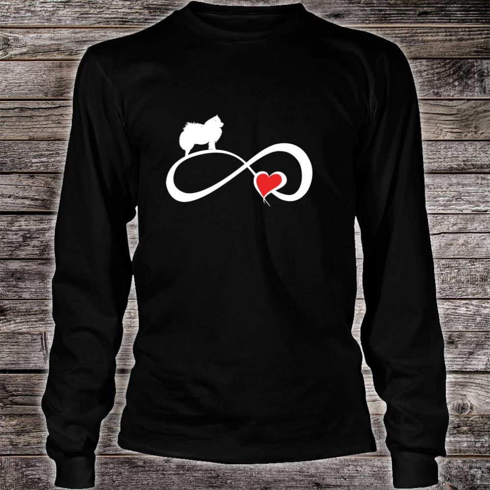 American Eskimo Dog Mom Eternity Heart Valentines Shirt long sleeved