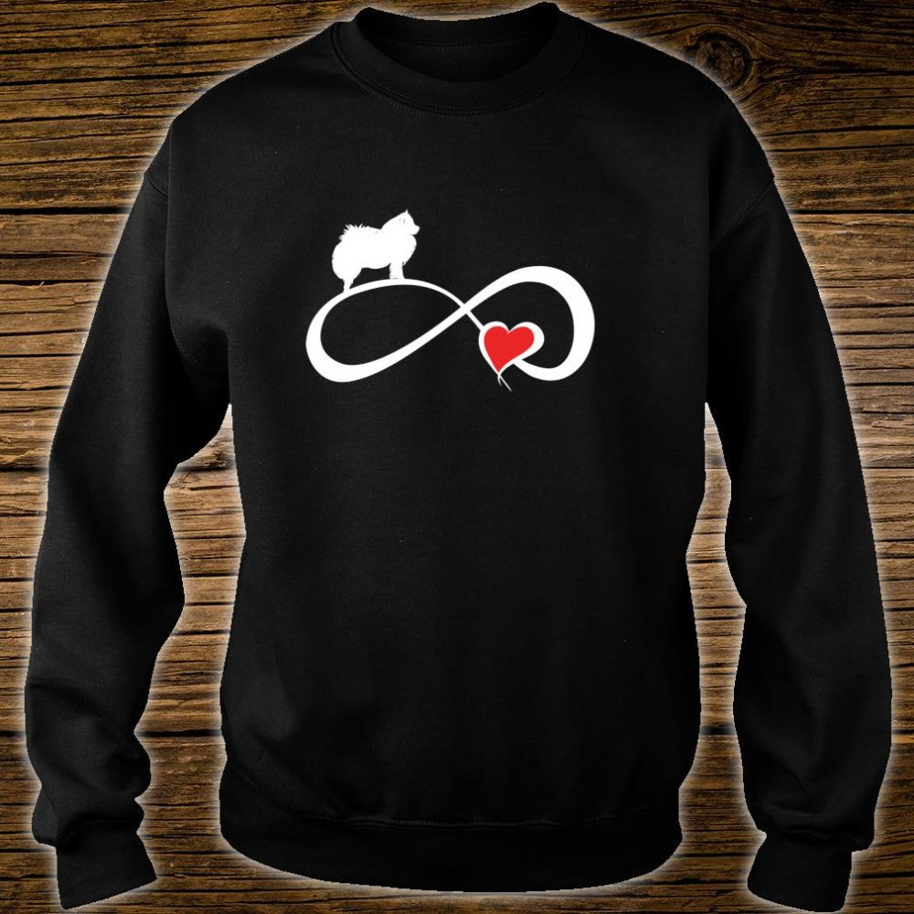 American Eskimo Dog Mom Eternity Heart Valentines Shirt sweater