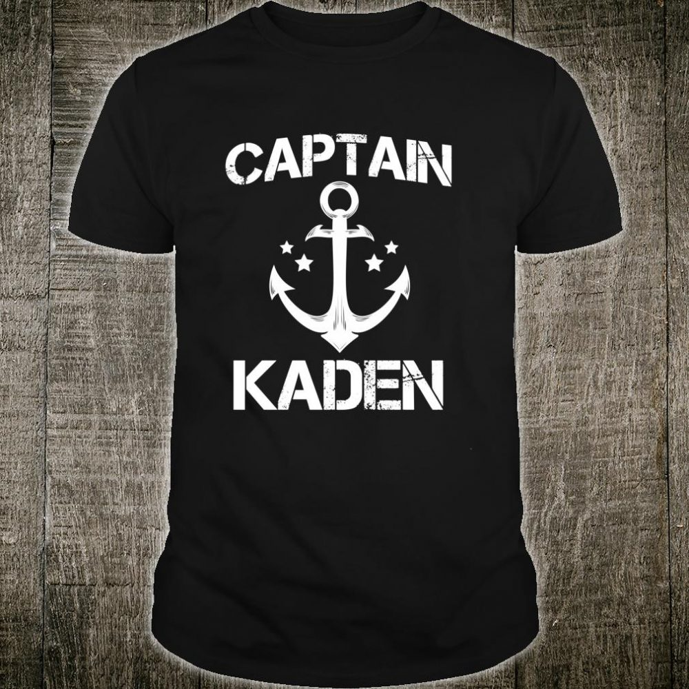 CAPTAIN KADEN Birthday Personalized Name Boat Shirt