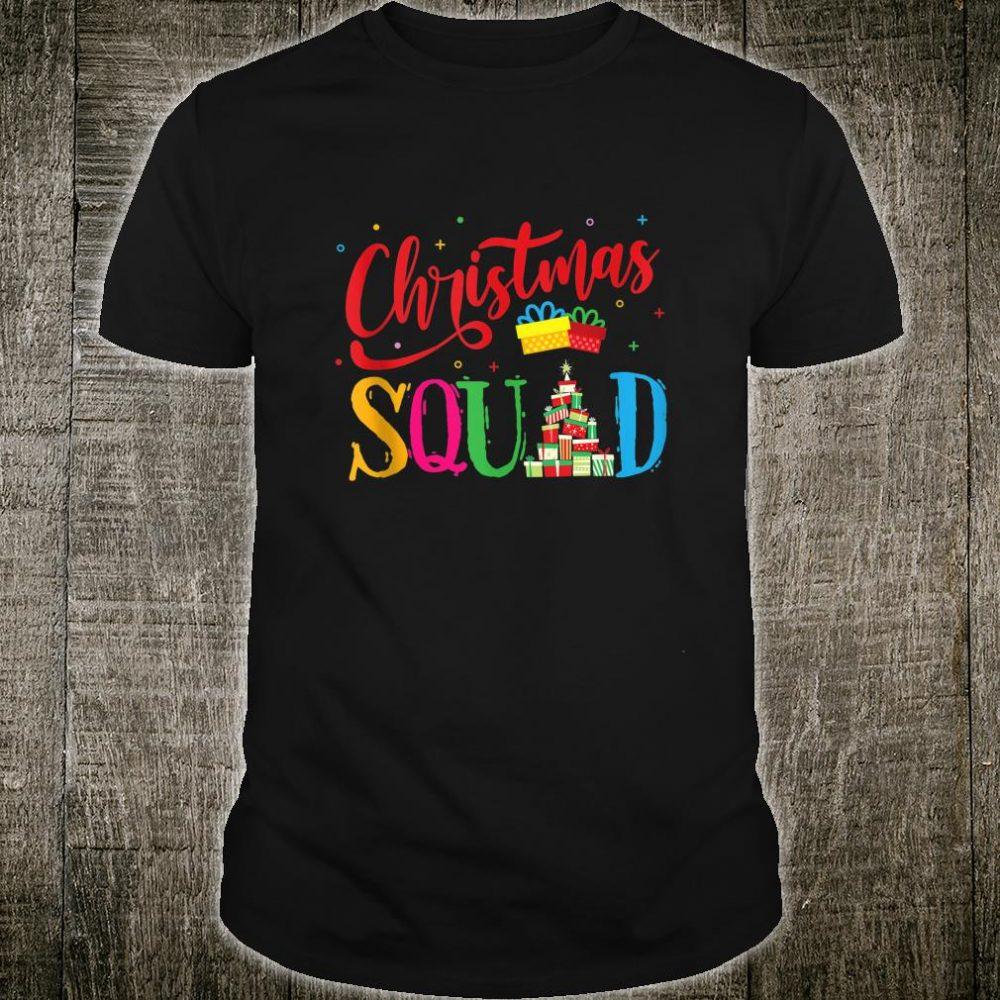Christmas Squad Family Matching Pajamas Xmas Boys Santa Shirt