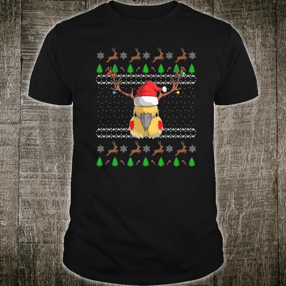 Cockatiel Santa Claus Hat Ugly Christmas Pattern Parrot Bird Shirt