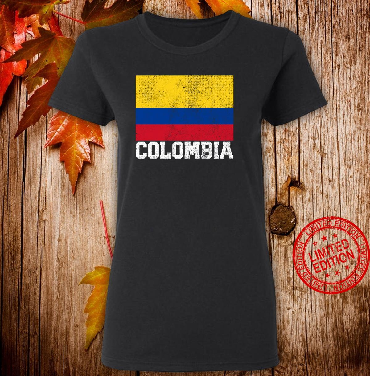 Colombian Colombia Flag Family Pride Country Shirt ladies tee