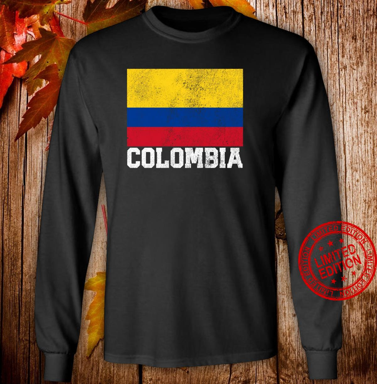 Colombian Colombia Flag Family Pride Country Shirt long sleeved