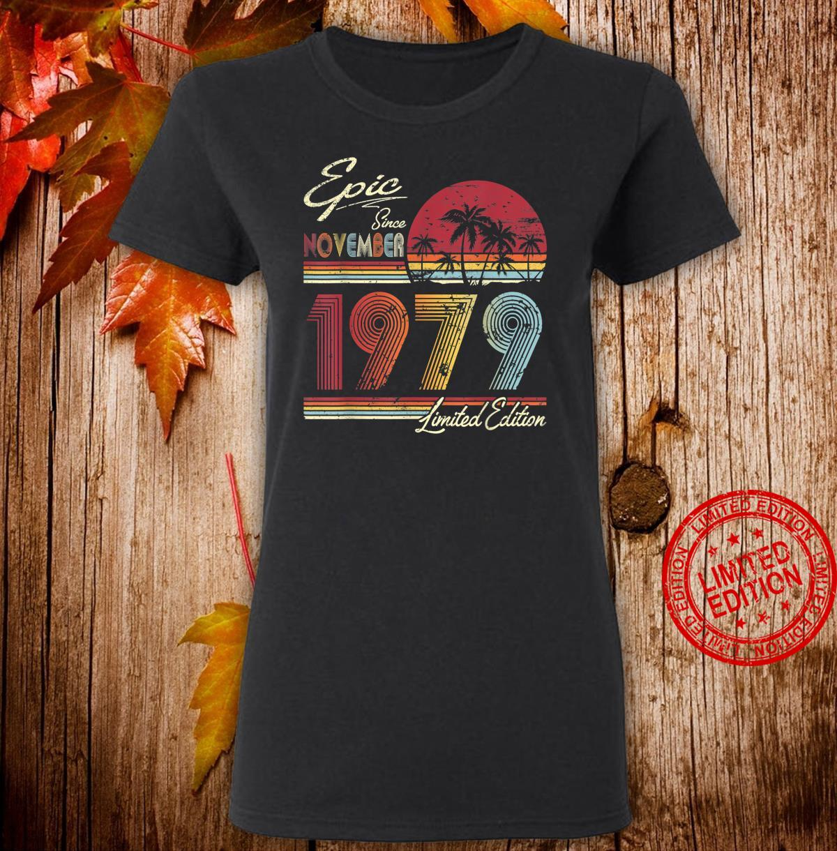 Epic Since November 1979 41st Birthday 41 Years Old Shirt ladies tee