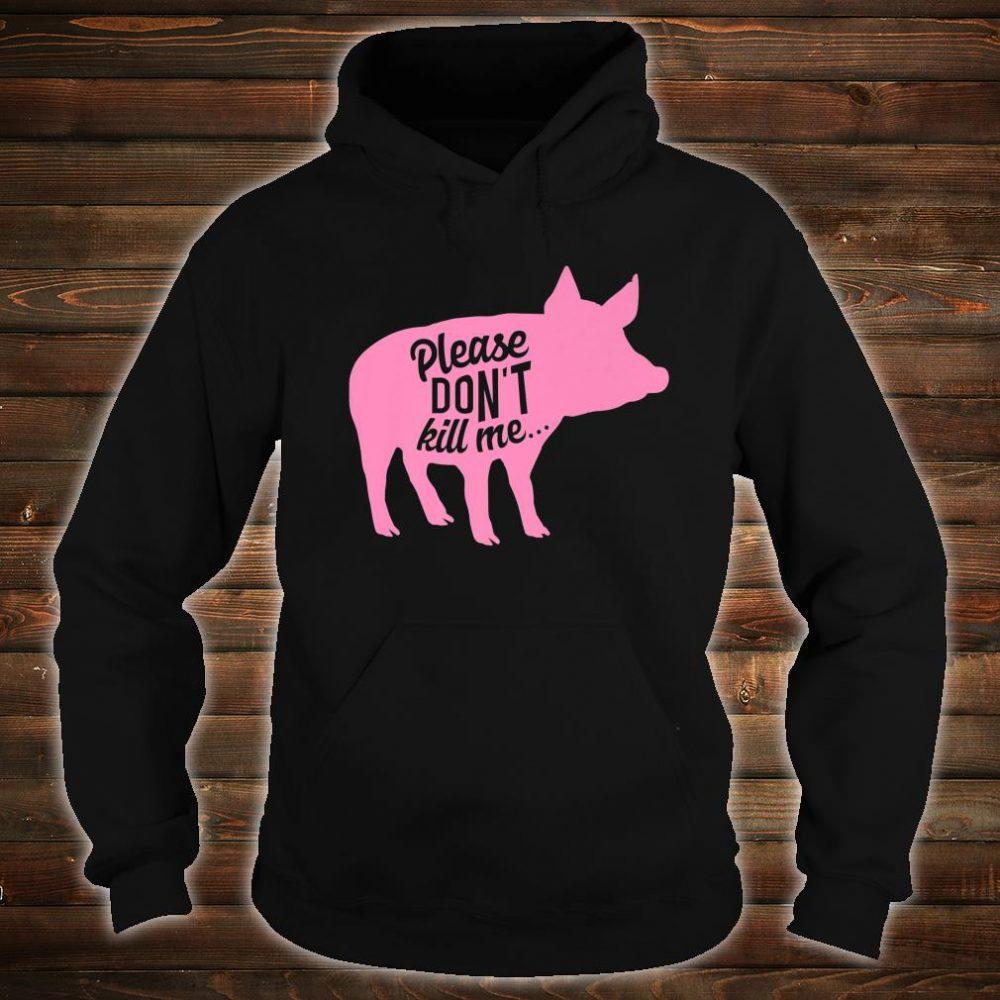 Funny Vegetarian Pig No Meat Vegan Farmer Ladies Shirt hoodie