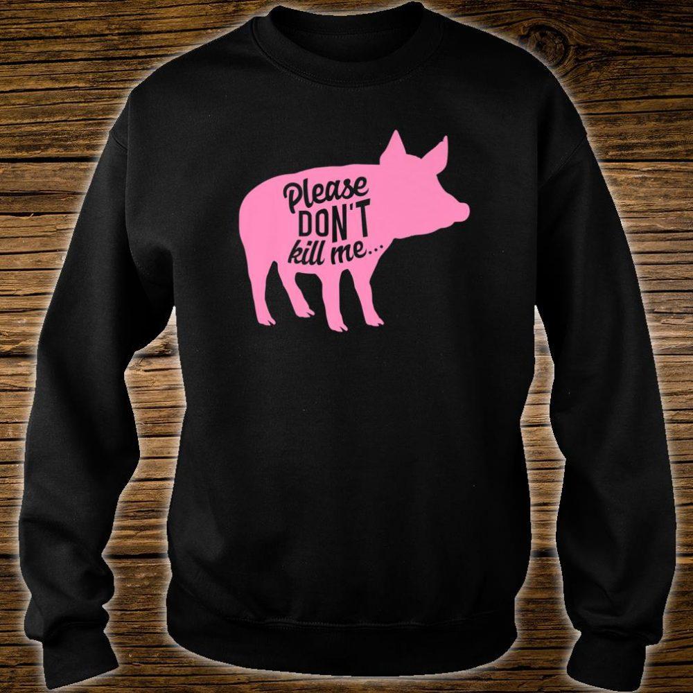 Funny Vegetarian Pig No Meat Vegan Farmer Ladies Shirt sweater