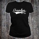 Grandpa Established 2015 Shirt ladies tee