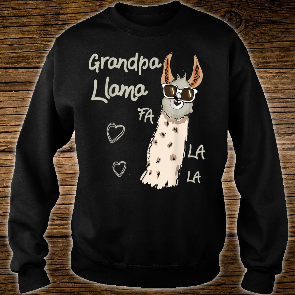 Grandpa Llama Christmas Family Matching Group Shirt sweater
