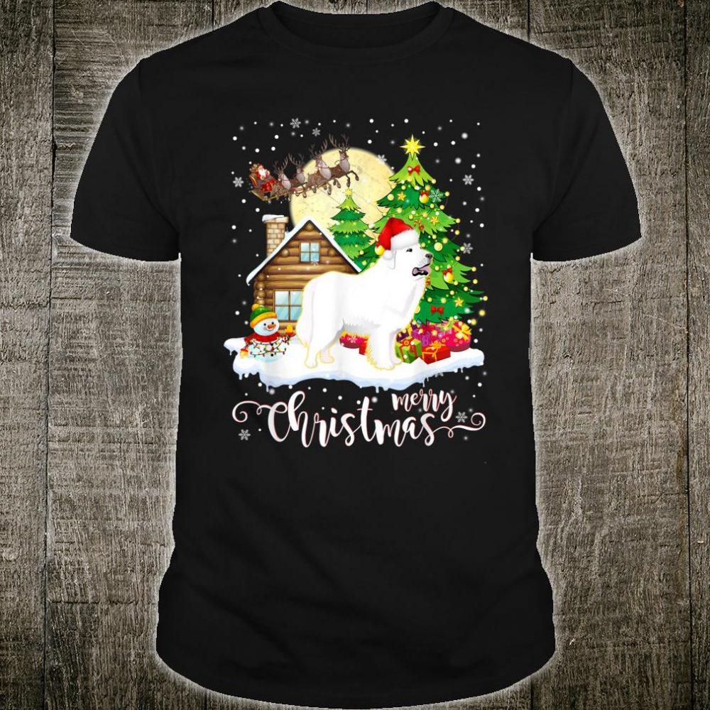 Great Pyrenees Merry Christmas Dog Shirt