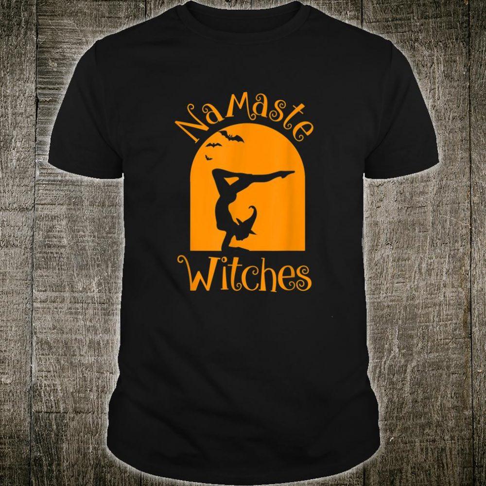 Halloween Namaste Witches Yoga Broom Scary Bat Shirt