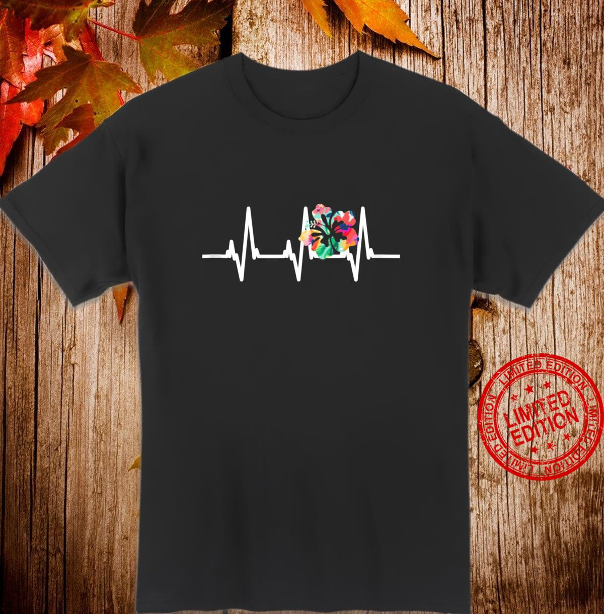 Hawaii Aloha Heartbeat Hibiscus Flowers Shirt