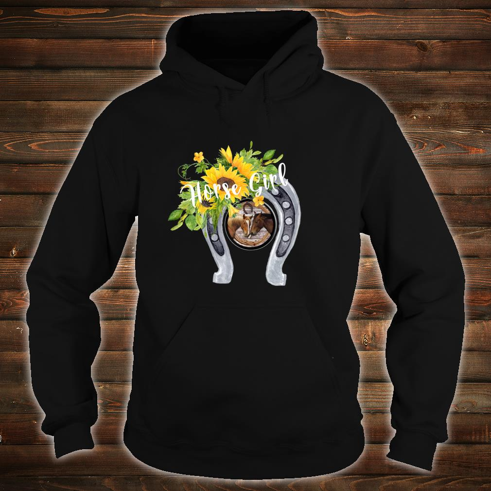 Horse for Girls with Sunflowers Horseshoes 2 Horses Shirt hoodie