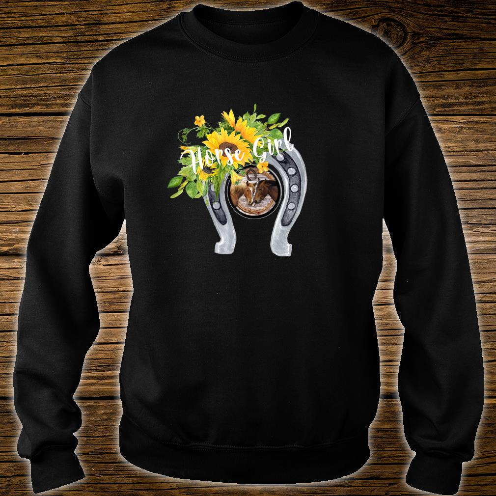 Horse for Girls with Sunflowers Horseshoes 2 Horses Shirt sweater