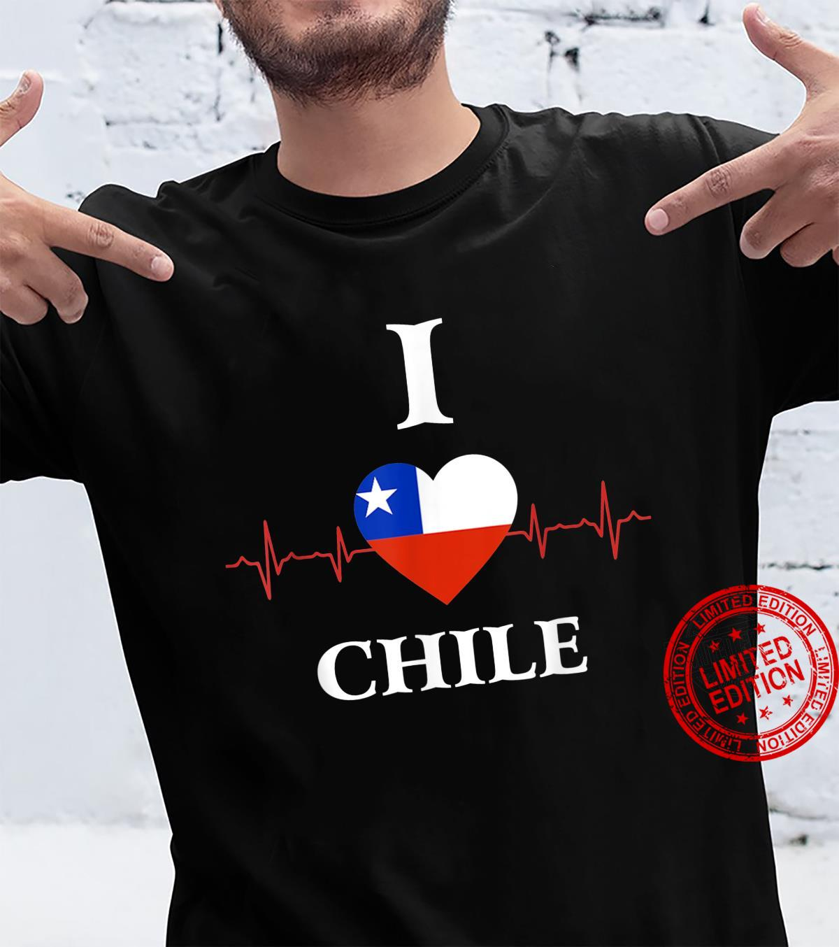 I Love Chile Heartbeat Flag Shirt