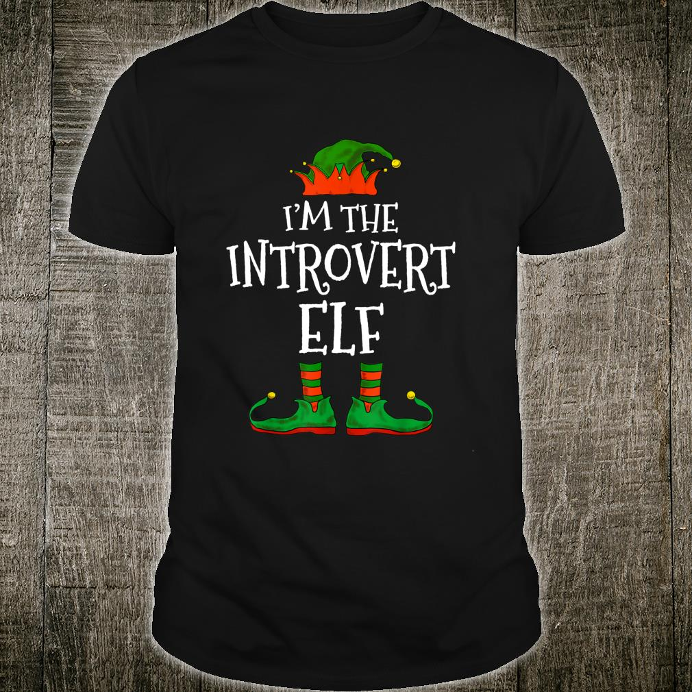 I'm The Introvert Elf Family Matching Christmas Shirt