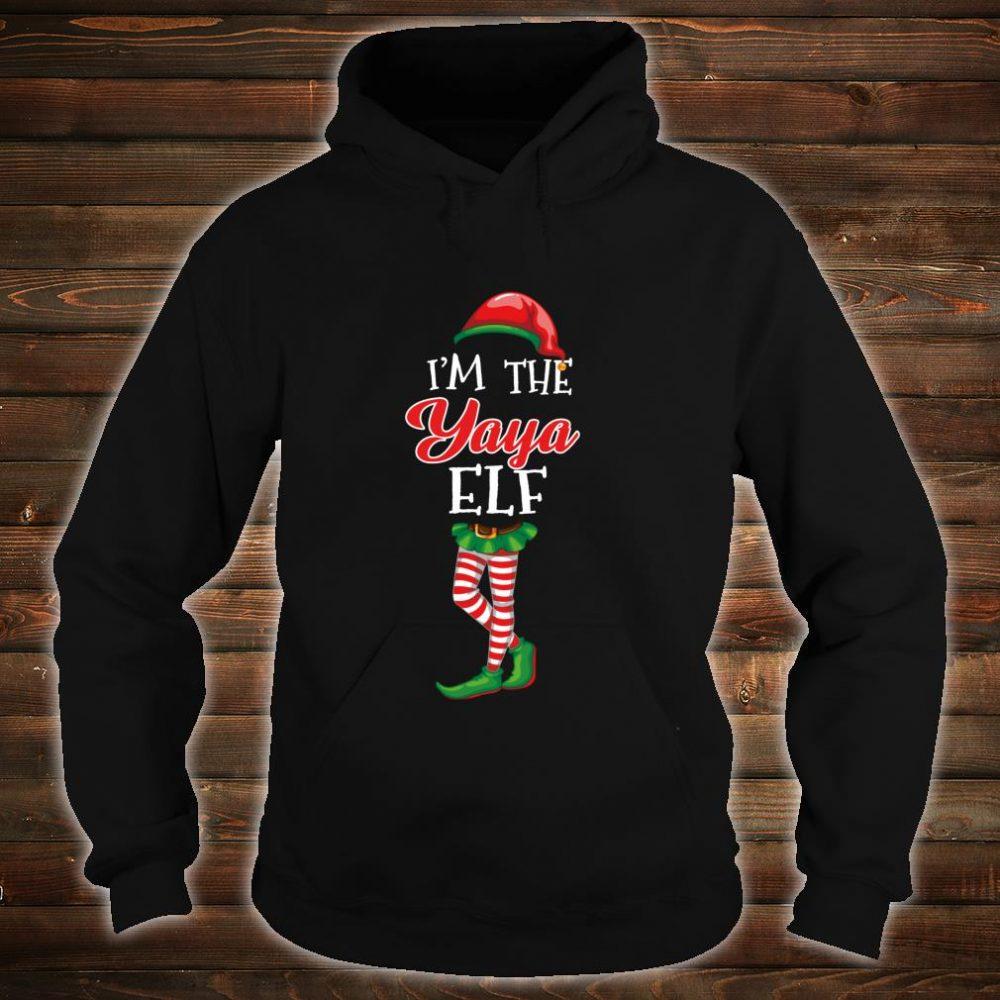 I'm The Yaya Elf Matching Family Christmas Group Shirt hoodie