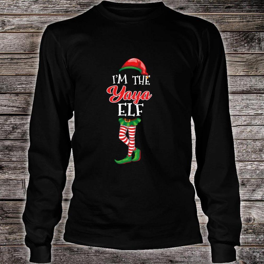 I'm The Yaya Elf Matching Family Christmas Group Shirt long sleeved