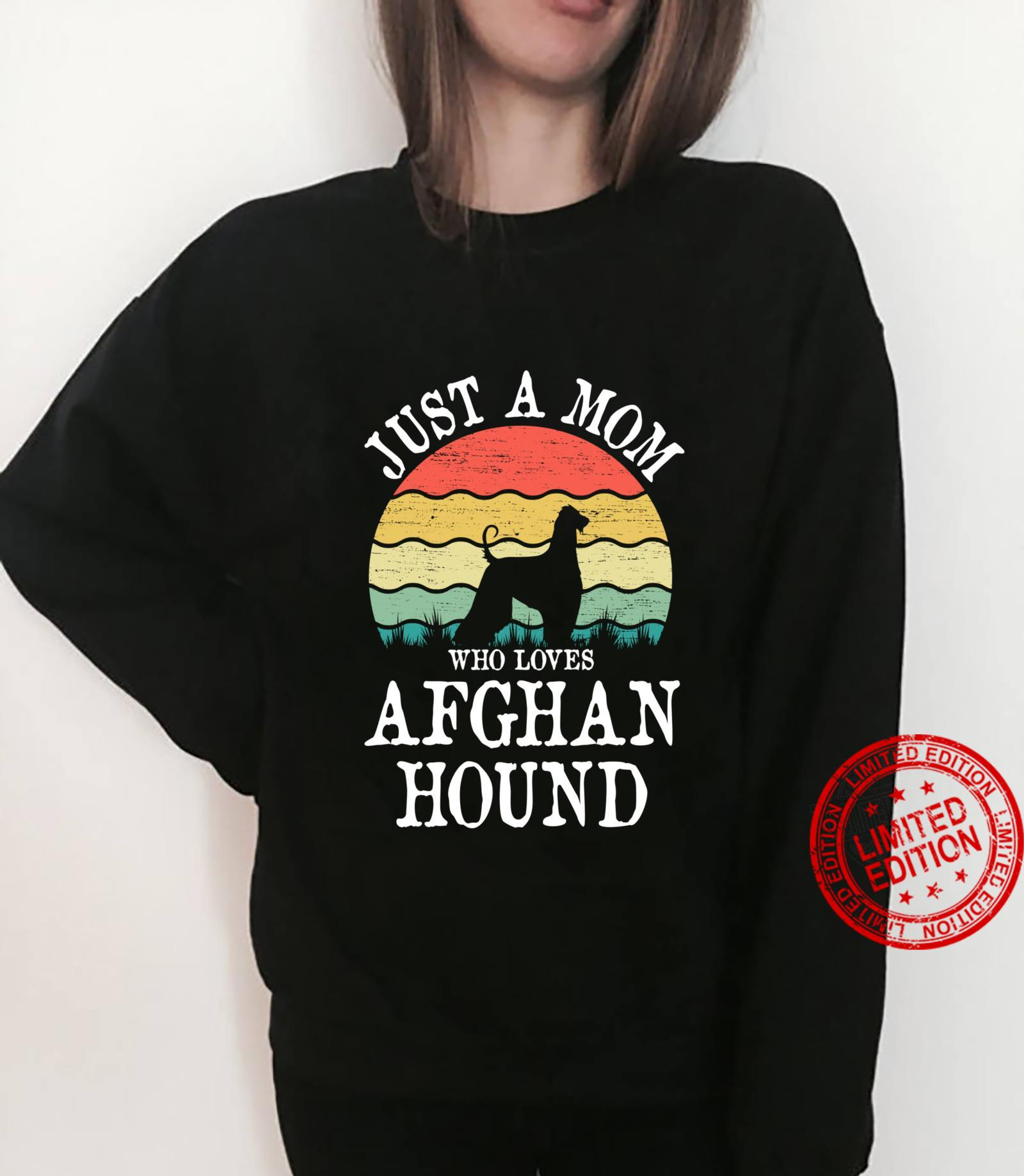 Just A Mom Who Loves Afghan Hound Dog Mom Shirt sweater