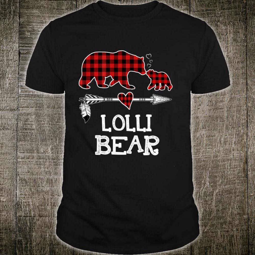 Lolli Bear Christmas Pajama Red Plaid Buffalo Family Shirt