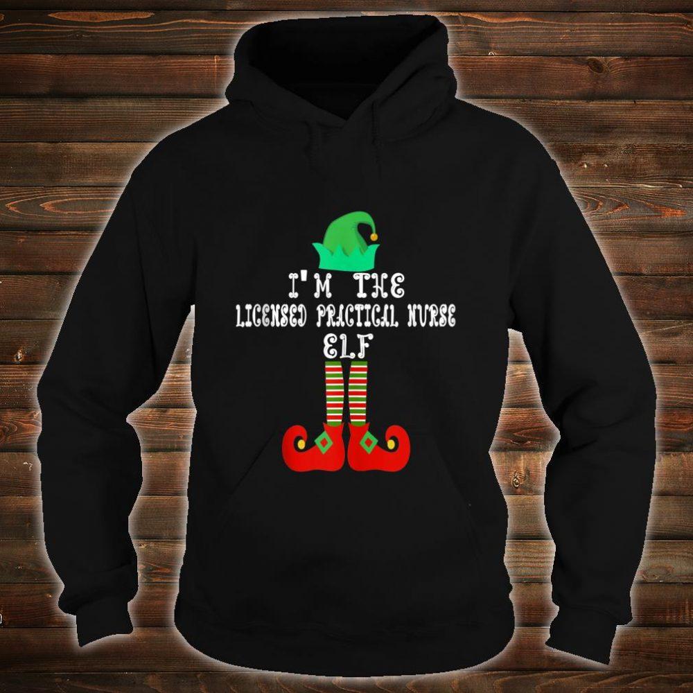 Matching Family Group Christmas Licensed Practical Nurse Elf Shirt hoodie