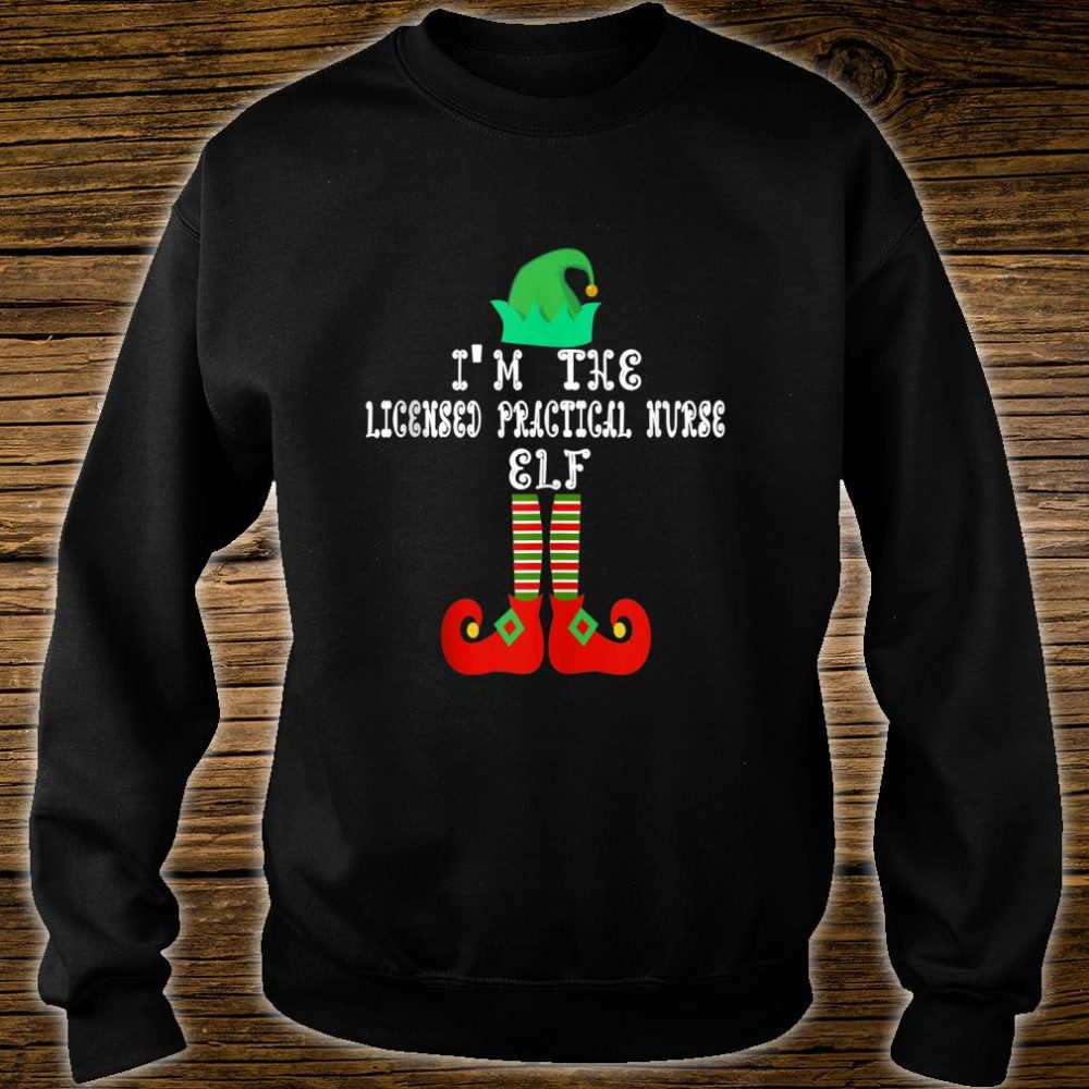 Matching Family Group Christmas Licensed Practical Nurse Elf Shirt sweater