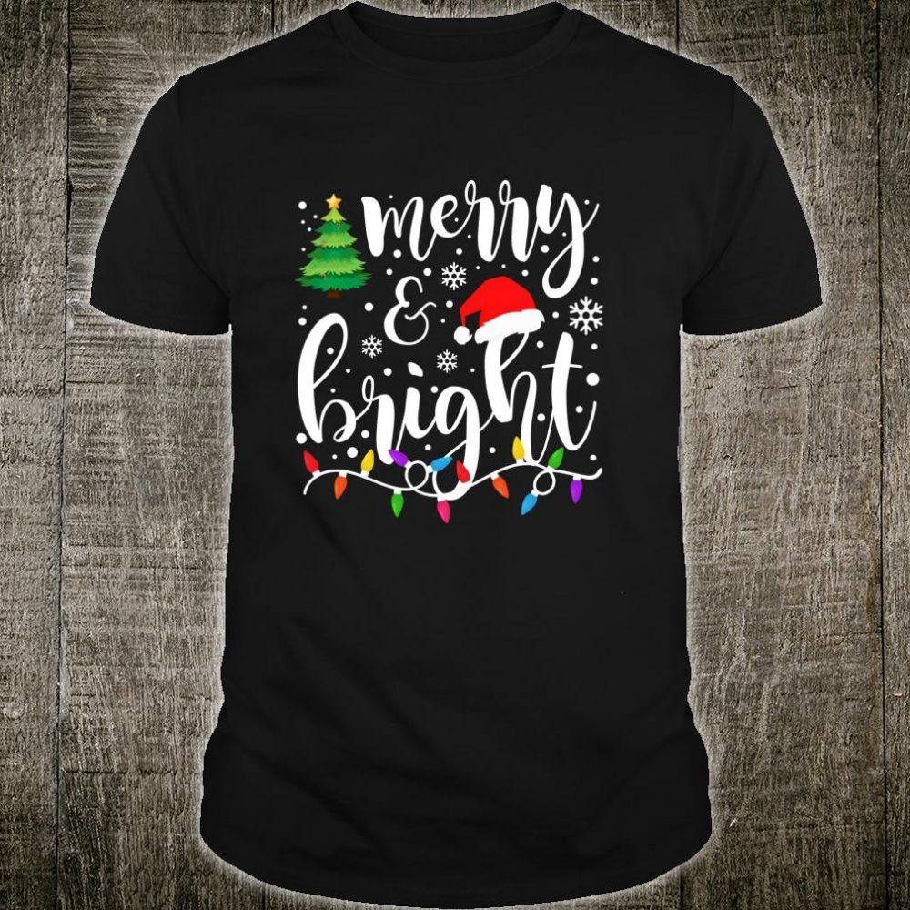 Merry and Bright Christmas Lights Family Christmas Shirt