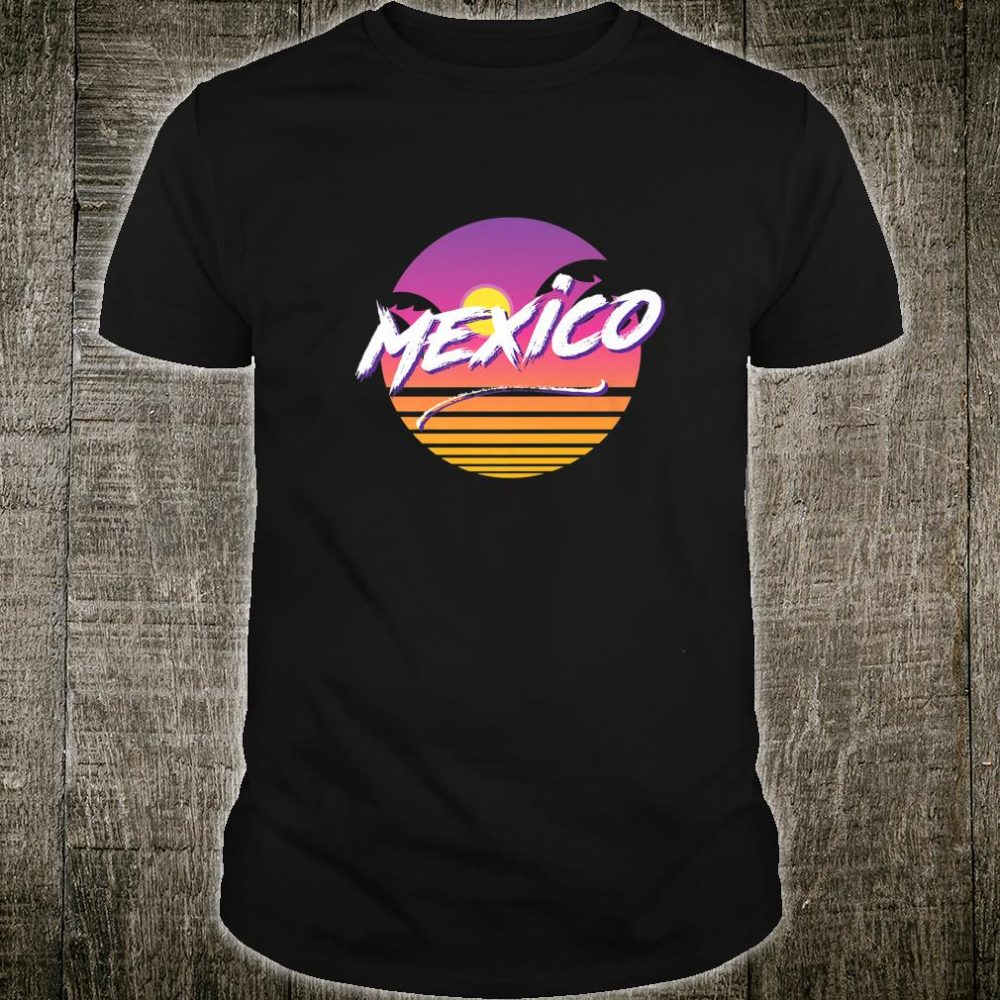 Mexico 1980s Style Colorful Casual Rad Shirt