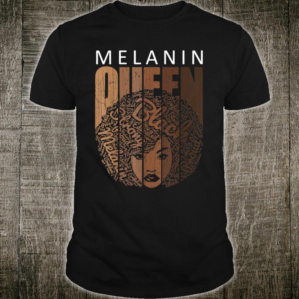 Natural Afro Melanin Queen Strong Black African American Shirt